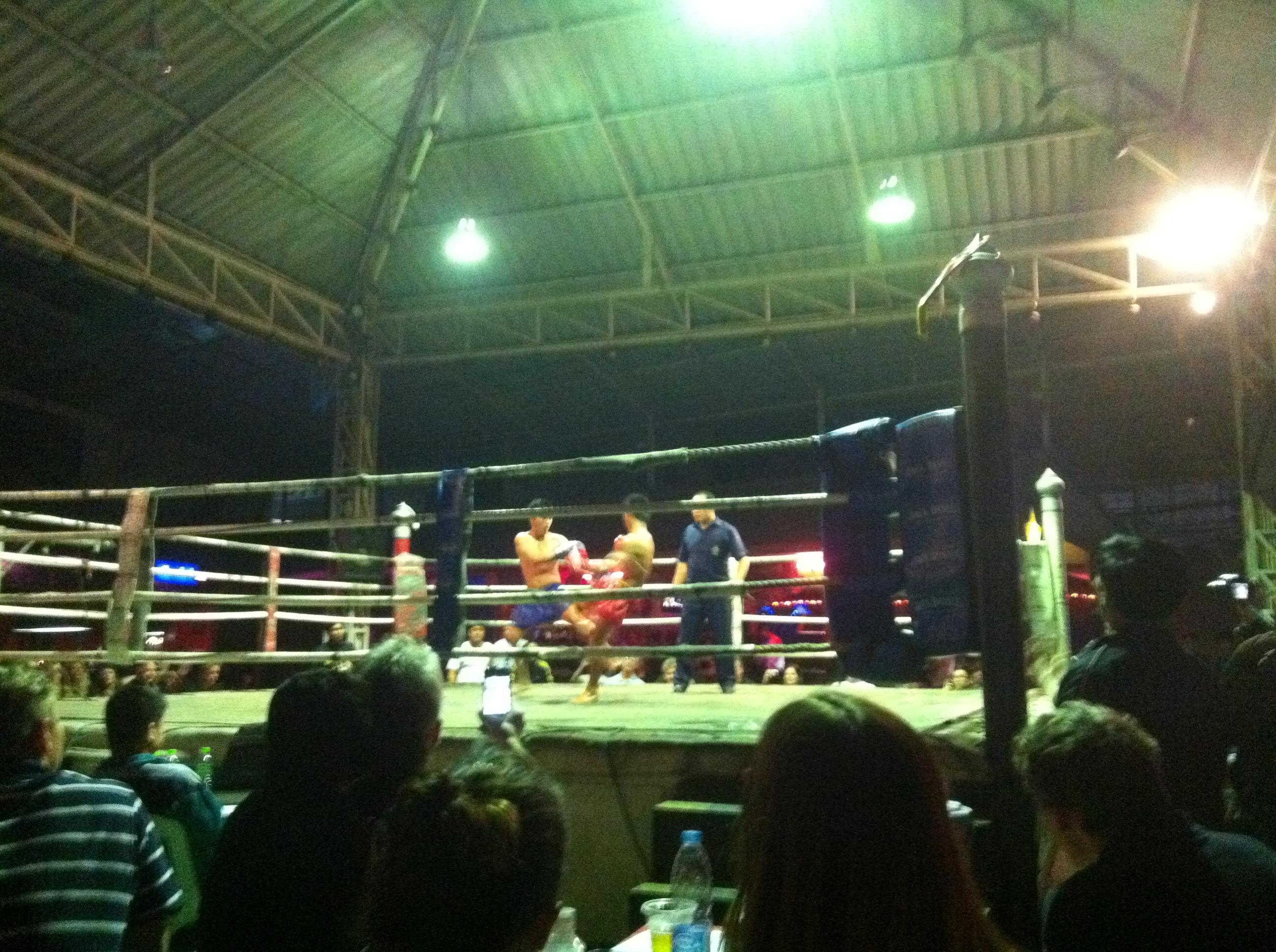 Combat de boxe thai